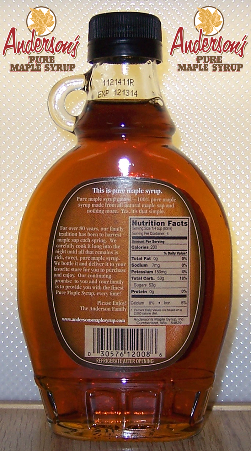Imitation Maple Syrup Versus Pure Maple Syrup